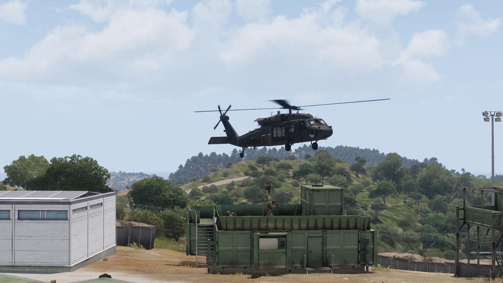 FD und SSG Luftlande Infil Technik Training